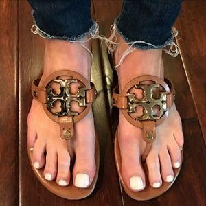 Tory Burch Shoes - Tory Burch Miller 2 Tan/Bronze flat sandal